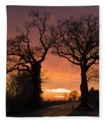 Road To The Night Fleece Blanket