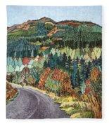 Road To Torloisk, 2008 Wc And Ink Fleece Blanket