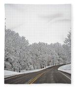 Road To Winter Fleece Blanket