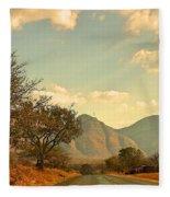 Road Trip Mountains Fleece Blanket