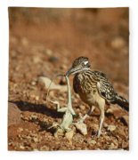 Roadrunner With Lizard Fleece Blanket