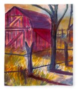 Roadside Barn Fleece Blanket