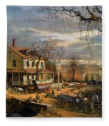 Roadside Inn, 1872 Fleece Blanket