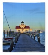 Roanoke Marches Lighthouse Fleece Blanket