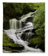 Roaring Creek Falls Fleece Blanket