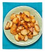 Roast Potatoes Fleece Blanket