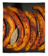 Roasted Pumpkin Slices Fleece Blanket