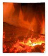 Face In The Fire Fleece Blanket
