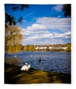 Roath Park Lake Fleece Blanket