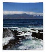 Robben Island View Fleece Blanket