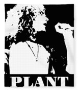 Robert Plant Black And White Pop Art Fleece Blanket