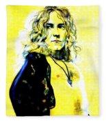 Robert Plant Of Led Zeppelin   Fleece Blanket