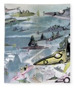 Robida Future Travel, C1902 Fleece Blanket