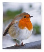 Robin Redbreast Fleece Blanket