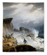 Robin Hoods Bay, Yorkshire, 1825 Fleece Blanket
