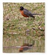 Robin Reflection Fleece Blanket