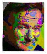 Robin Williams - Abstract Fleece Blanket