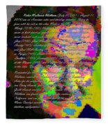 Robin Williams - Abstract With Text Fleece Blanket