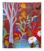 Robin's Blueberry Daisy Sunshiny Day Fleece Blanket