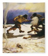 Robinson Crusoe, 1920 Fleece Blanket