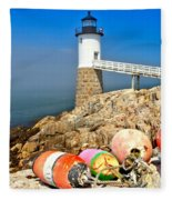 Robinson Point Lighthouse Fleece Blanket