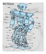 Robot Patent Fleece Blanket