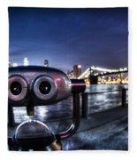 Robot Views Fleece Blanket