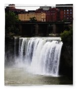 Rochester Ny High Falls Fleece Blanket