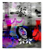 Rock And Roll Fantasy Fleece Blanket