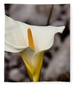 Rock Calla Lily Fleece Blanket