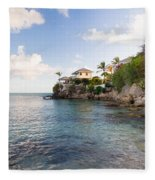 Rock Cottage Fleece Blanket