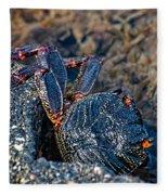 Rock Crab At He'eia Kea Pier Fleece Blanket