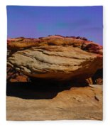 Rock Formation In Canyon De Chelly Fleece Blanket