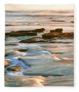 Rock Formations At Windansea Beach, La Fleece Blanket