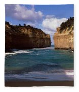 Rock Formations In The Ocean, Loch Ard Fleece Blanket