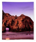 Rock Formations On The Beach, Pfeiffer Fleece Blanket