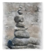 Rock Markers Photo Art 01 Fleece Blanket