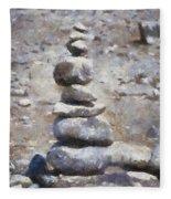 Rock Markers Photo Art 02 Fleece Blanket