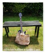 Rock N Roll Guitar In A Bag Fleece Blanket
