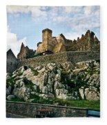 Rock Of Cashel Castle Ireland Fleece Blanket