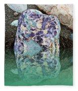 Rock Reflections - Water - Beach Fleece Blanket