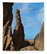 Rock Stack Fleece Blanket
