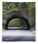 Rock Tunnel On Kelly Drive Fleece Blanket