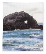 Heart Rock Near San Francisco Ca Cliff House Fleece Blanket