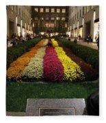 Rockefeller Center In Autumn Fleece Blanket
