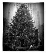 Rockefeller Christmas Tree Fleece Blanket