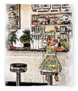 Rockin Robin's Soda Shop Fleece Blanket
