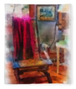 Rocking Chair Photo Art Fleece Blanket