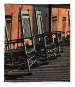 Rocking Chairs Fleece Blanket