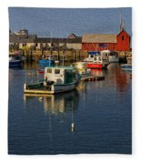 Rockport Harbor No.3 Fleece Blanket